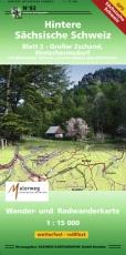 Hintere Sächsische Schweiz - Blatt 2 - Großer Zschand, Hinterhermsdorf