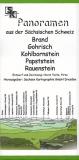 Panoramen aus der Sächsischen Schweiz - Brand-Gohrisch-Kohlbornstein-Papststein-Rauenstein